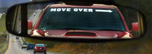 Move over или просто свали нах!